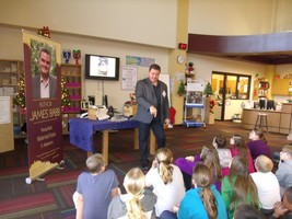 Arkansas Author James Babb Vists BMS