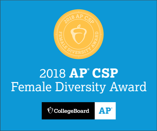 Beebe High School Earns First College Board AP Computer Science Female Diversity Award for Achieving High Female Representation in AP Computer Science Courses