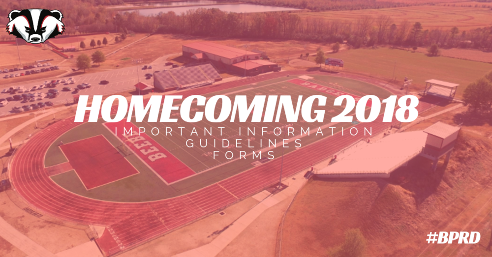 Homecoming 2018 Important Information