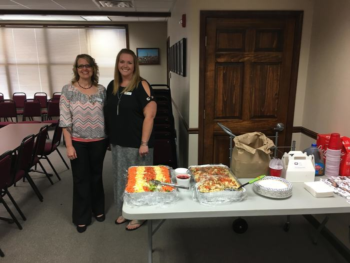 Thank you Centennial Bank for providing lunch to our central office staff today.