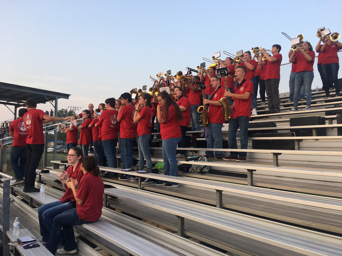 Badger Band celebrates first touchdown of the season