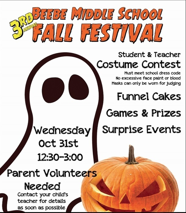 Beebe Middle School Fall Festival and Halloween Carnival