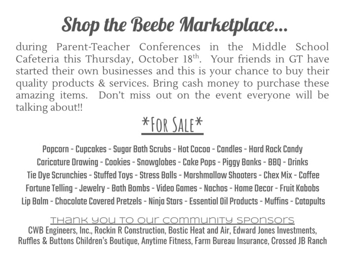 Beebe Middle School Marketplace