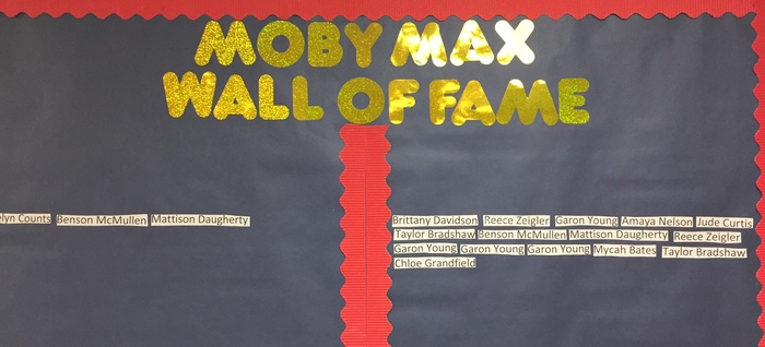 Week One Moby Max Wall of Fame