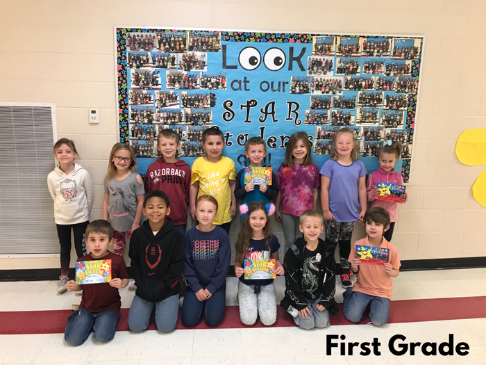 First Grade Star Students