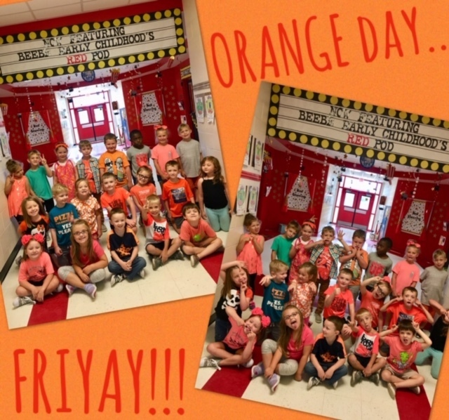 Orange Day with Ms. Barrentine