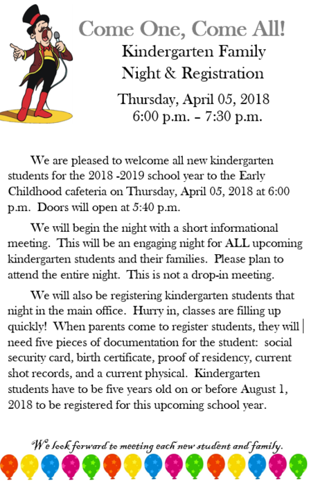 Kindergarten Family Night