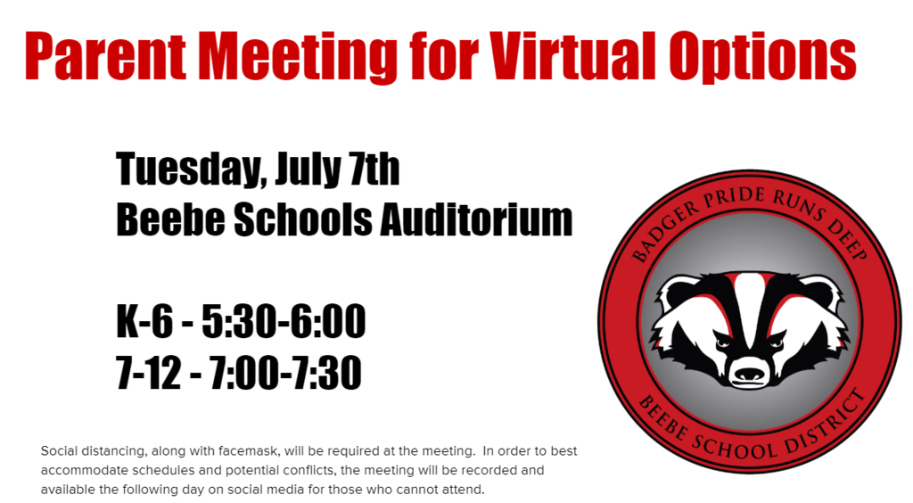 Parent Meeting - Virtual Option